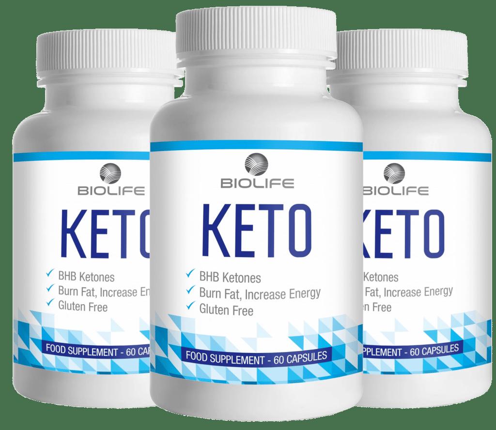 3 flacons de Keto Biolife