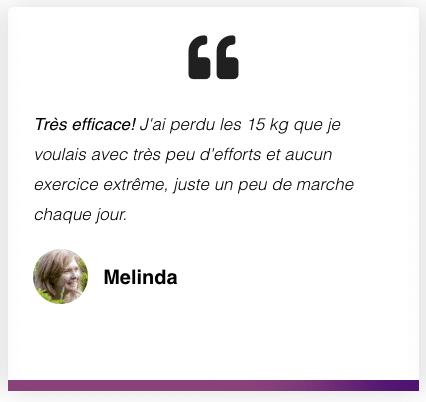 Avis de Melinda sur KetoCharge après avoir perdu 15 kg